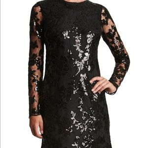 DRESS THE POPULATION 'Grace' Sequin Lace Dress XS